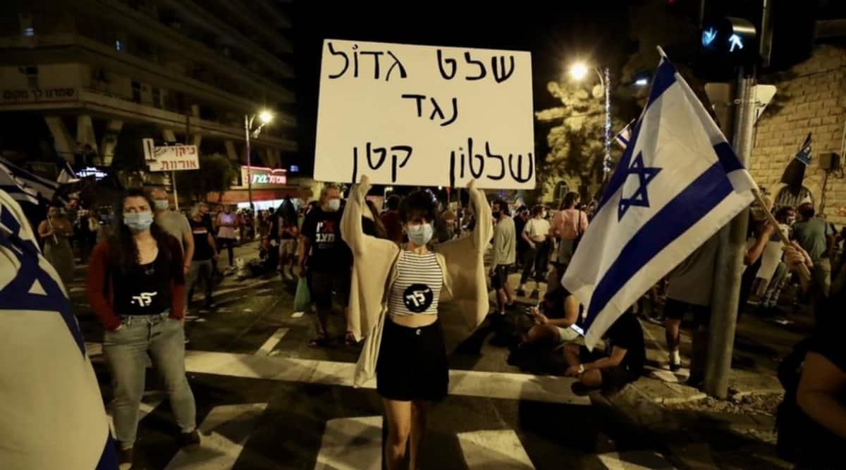 Benjamin Netanyahu, Israel prime minister, Israel pm, Israel protest, Israel pm house protests, indian express