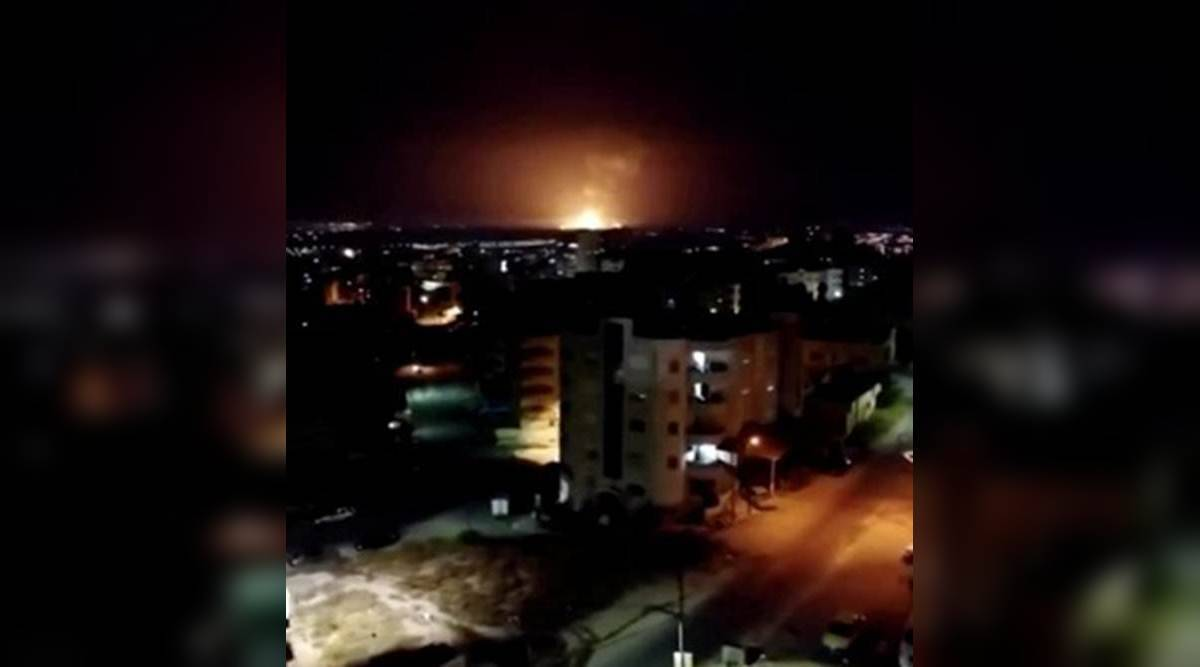 Watch: Huge explosions rock military facility in Jordan, army blames heat wave