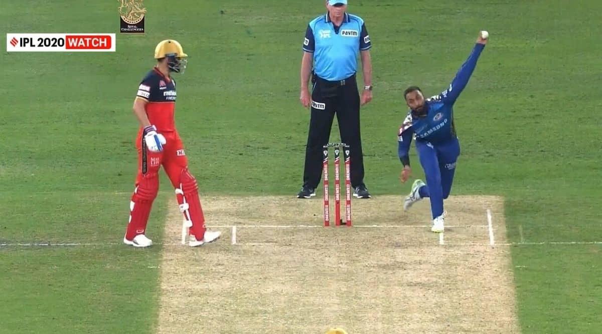 IPL, IPL 2020, RCB vs MI, Krunal Pandya, Krunal Pandya bowling action, Krunal Pandya imitates Kedar Jadhav, Krunal Pandya bowling action, ipl 2020 news, ipl 2020 updates