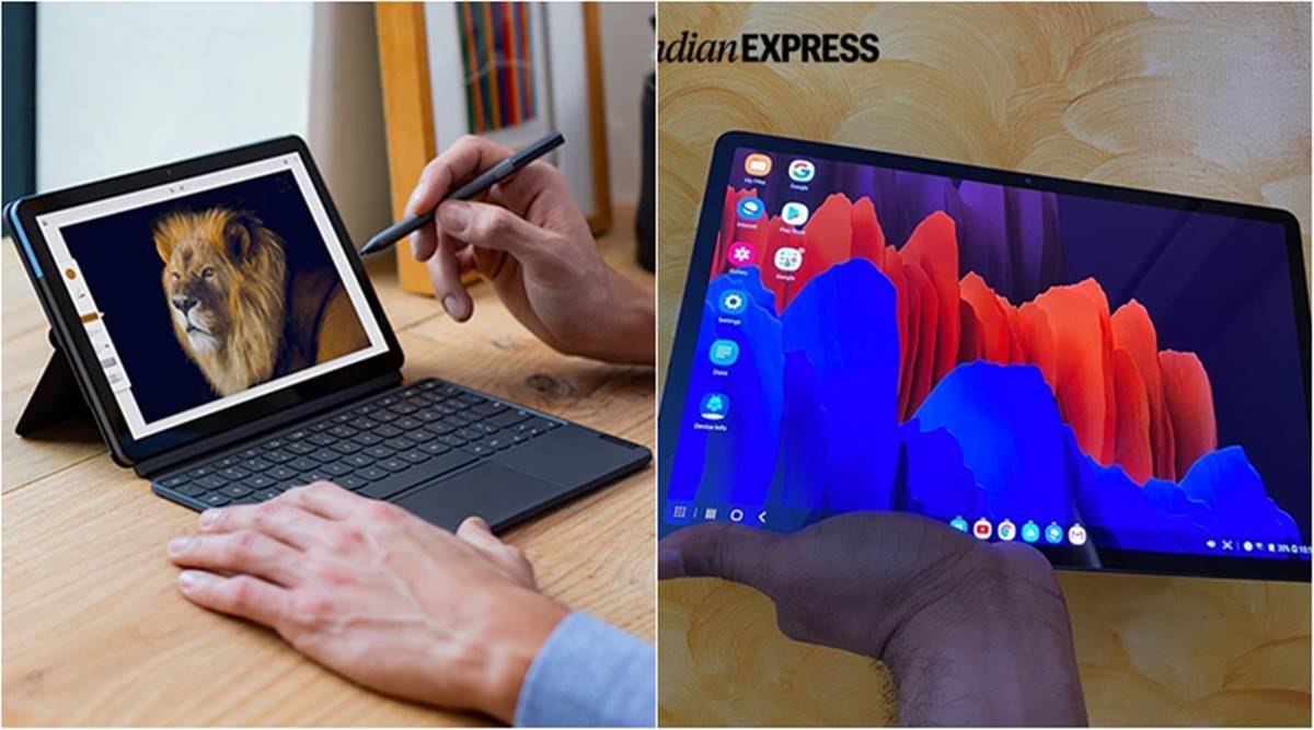 tablets vs laptops, 5 best work tablets, 5 best tablets india, Lenovo Chromebook Duet, iPad 8th gen, iPad Pro, Samsung Galaxy Tab S7, Surface Pro 7