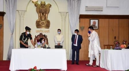 Manipur new ministers, Manipur portfolio allocation, biren singh, Nemcha Kipgen, Okram Henry Singh, Manipur news, indian express