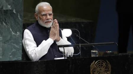 UN General Assembly, narendra modi, naredra modi un sepeech, narendra modi virtual un speech, narendra modi news, un news, indian express news