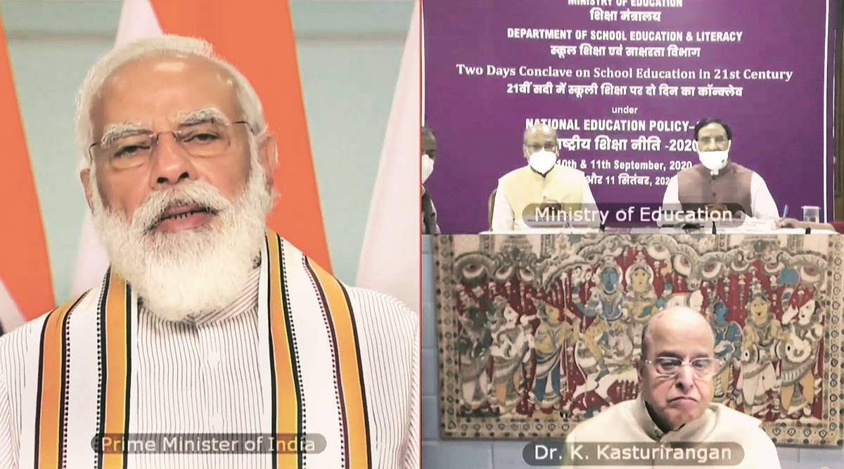 Narendra Modi, NEP Meet, National Education Policy, school education, mother tongue, Indian express news