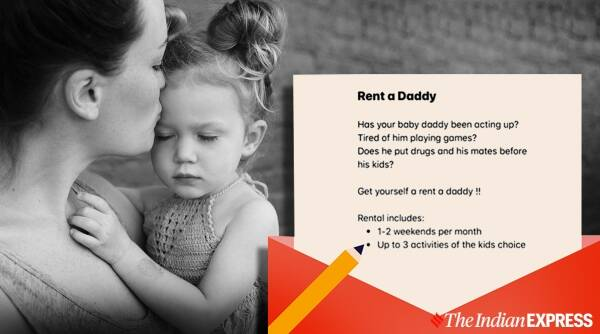 rent a daddy, father rental service, aussie man daddy services, dad for rent, father for rent, single mother baby daddy on rent, odd news, indian express