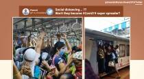 Videos of a crowded Mumbai suburban train sparks debate on social distancing