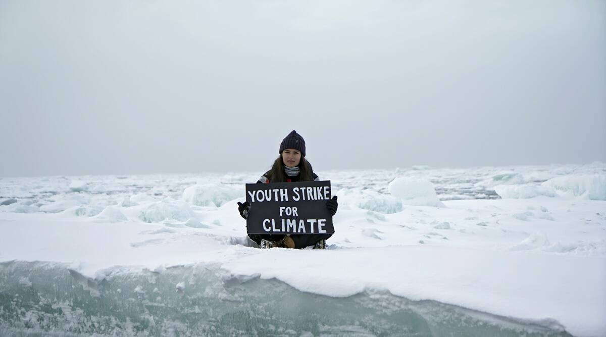 British teen activist Mya-Rose Craig stages climate protest on Arctic ice sheet - The Indian Express