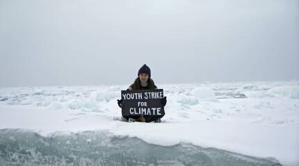 British teen activist Mya-Rose Craig stages climate protest on Arctic ice sheet