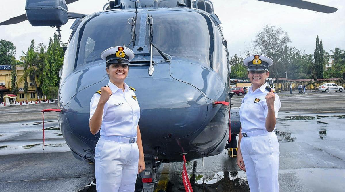 indian navy women officers, Airborne Tacticians, Kumudini Tyagi, Riti Singh, first women airborne tacticians of india, indian navy news, indian express