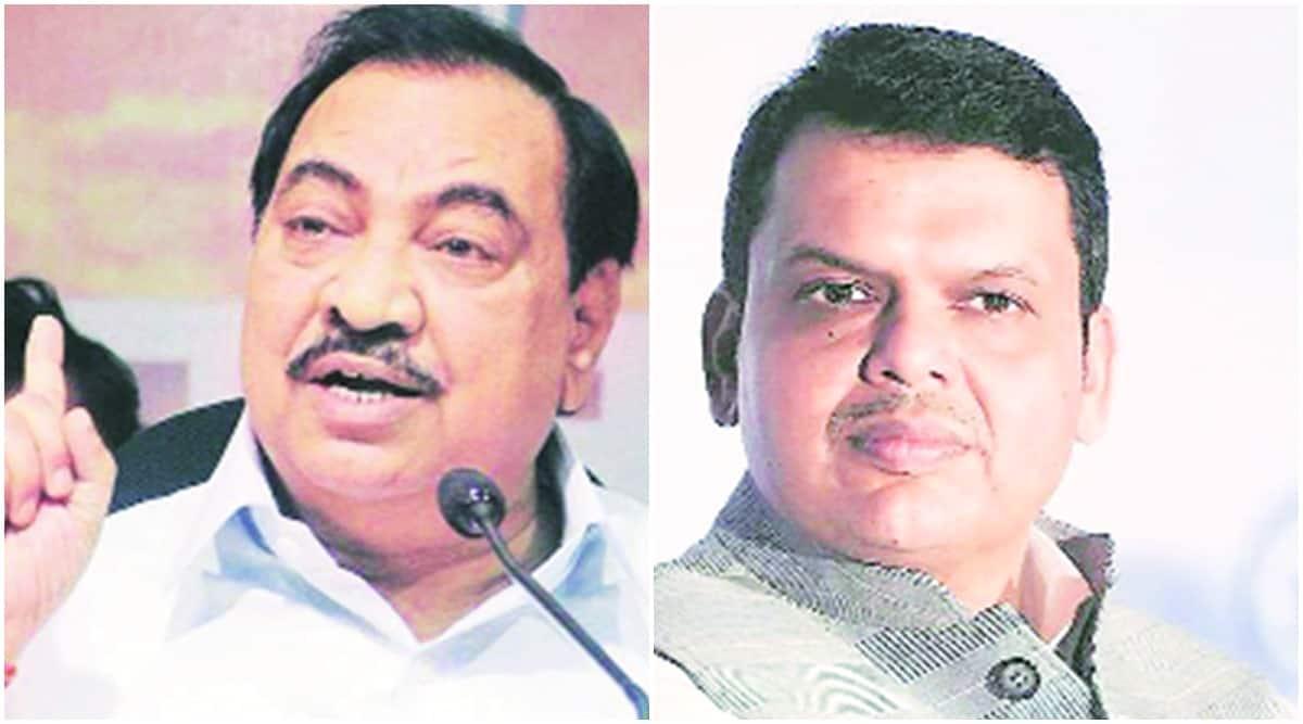 Devendra fadnavis, Eknath Khadse, Eknath Khadse allegations fadnavis, J P Nadda, bjp, bjp news, indian express news