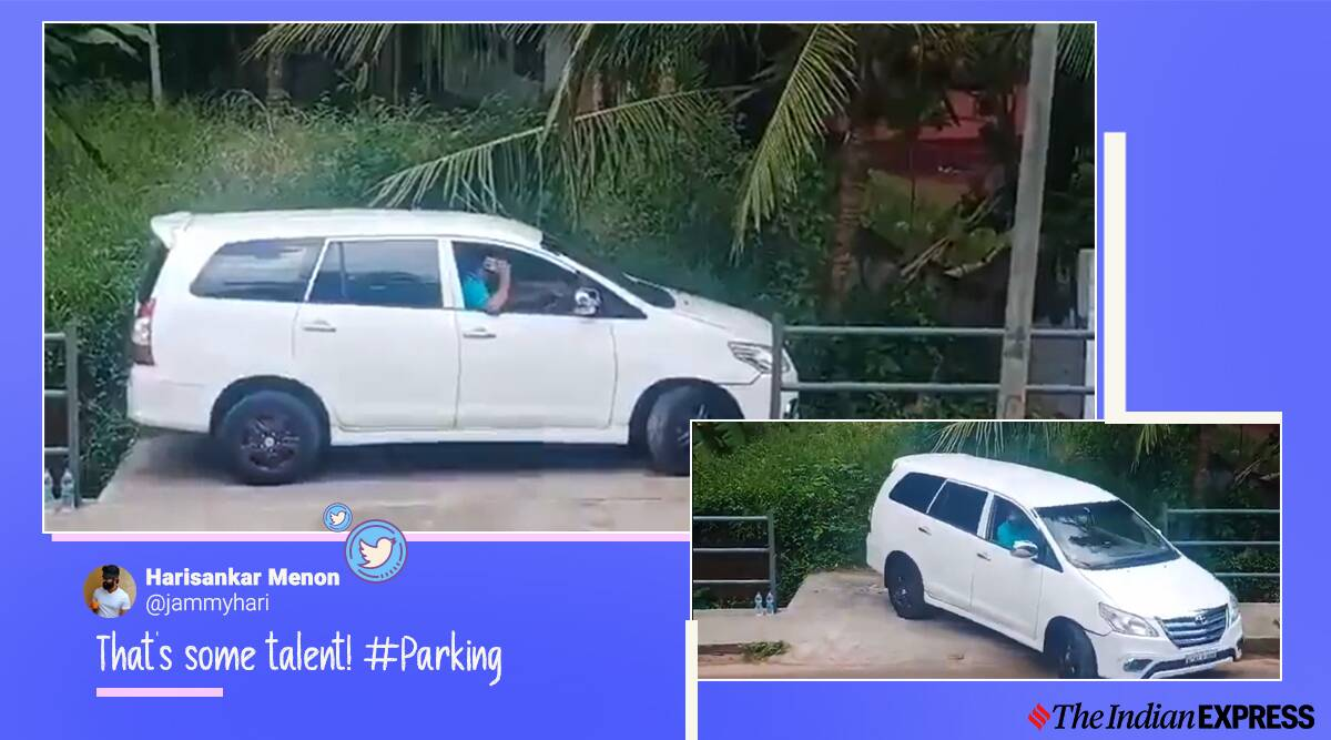 parallel parking, good driving skills, parking skills, smooth car parking viral videos, trending,