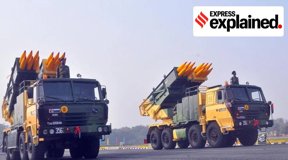 Pinaka Rocket System, what is Pinaka Rocket System, Pinaka Rocket System features, Pinaka Rocket System capabilities, Pinaka Rocket System origin, indian express