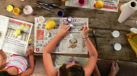 art and music classes, online learning for kids in lockdown, activity based learning, dance and yoga, learning, parenting, indian express news