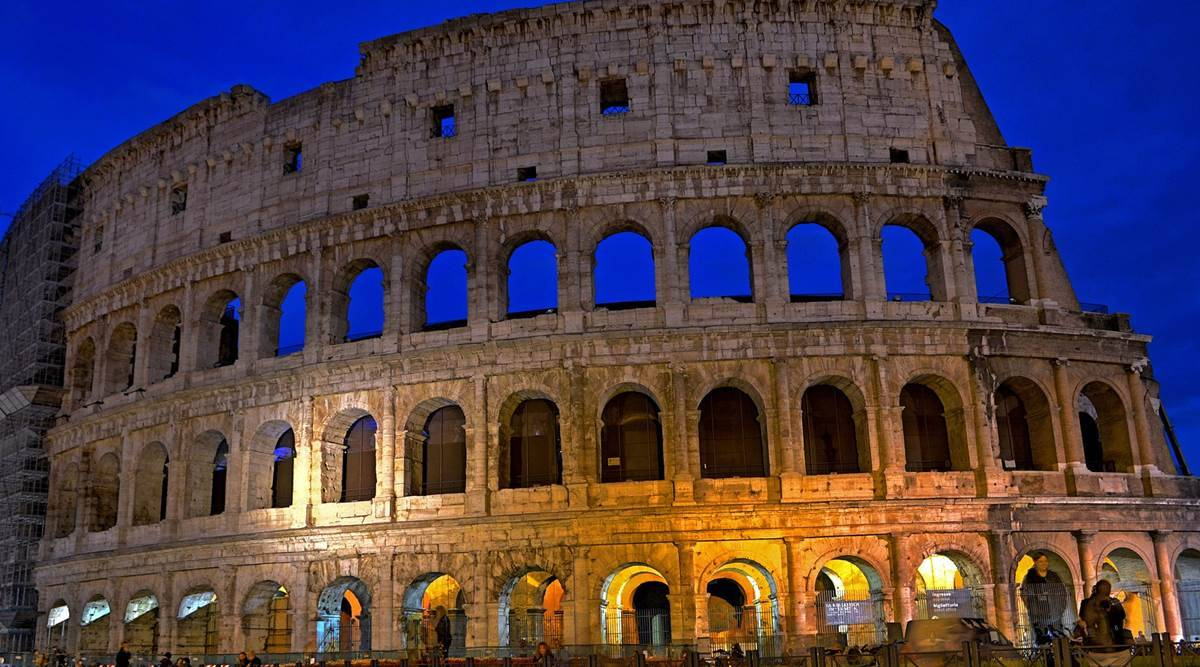 Irish tourist fined in Italy, Colosseum in Rome, defacing the Colosseum, Colosseum vandalism, indian express, indian express news