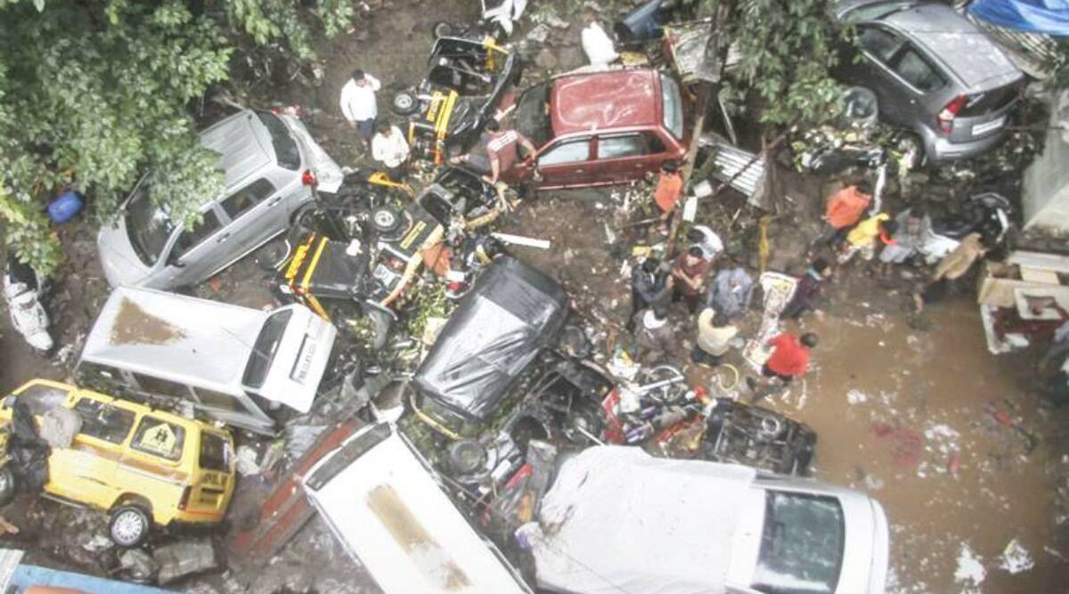 Pune flash flood, Pune flash floods, Ganga Satellite Society, Victor Sangle, Pune city News, indian express
