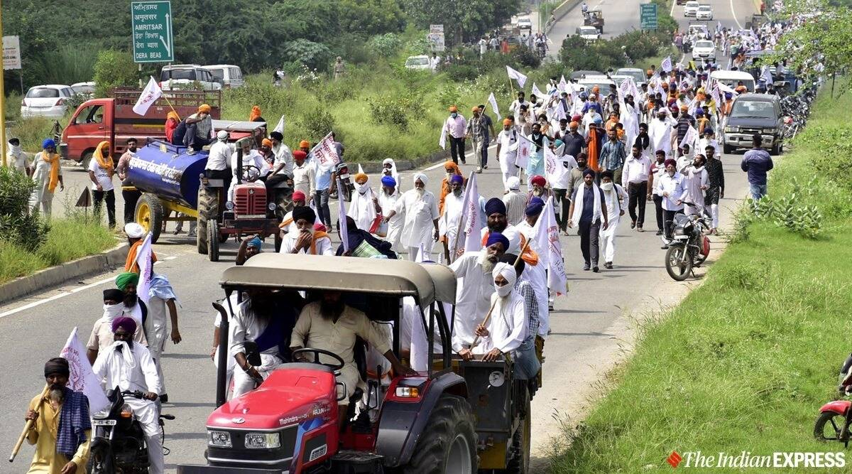 Farmers, Farm bills, Farmers protests, protests over farm bills, Punjab farmers, Punjab news, Indian express