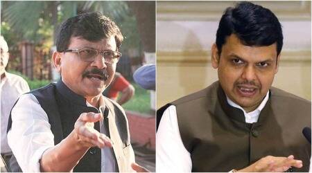 sanjay raut devendra fadnavis meeting, fadnavis saamana interview, Sanjay Raut, devendra fadnavis, sanjay raut meets devendra fadnavis, samaana, shiv sena mouth piece, indian express news