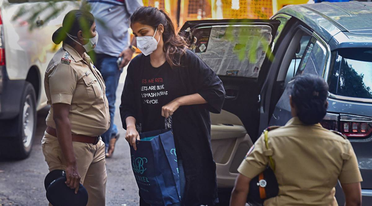 Rhea Chakraborty, Rhea Chakraborty arrest, Rhea Chakraborty drug case, Rhea Chakraborty drug case arrested, Rhea Chakraborty news, rhea chakraborty drug news, rhea chakraborty Sushant Singh Rajput case, showik chakraborty drugs, Rhea drug case latest news