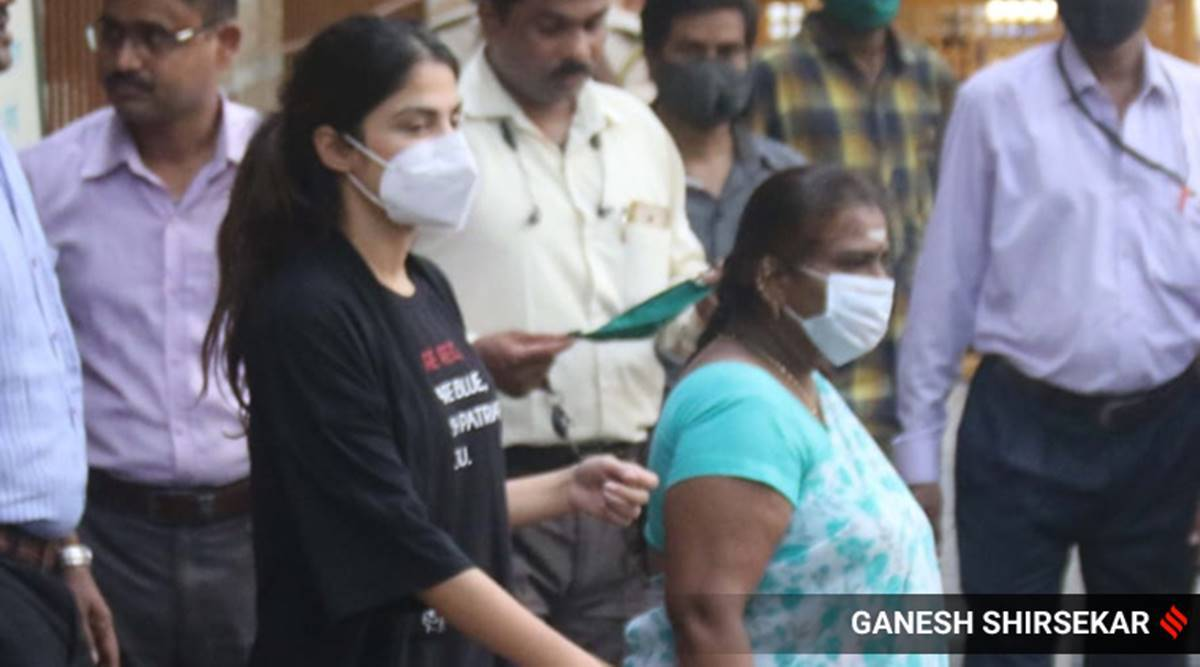 Rhea Chakraborty, Rhea Chakraborty bail plea, Rhea Chakraborty arrested, Rhea Chakraborty drugs case, Rhea Chakraborty Sushant Singh Rajput case, India news, Indian Express