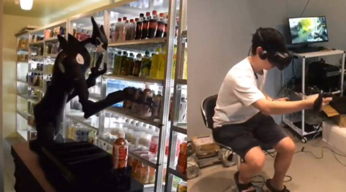 indianexpress.com - Trends Desk - Watch: Tokyo convenience stores deploy seven-foot robots to stock shelves