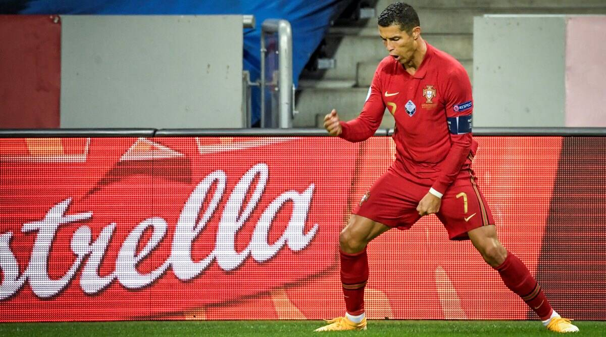 Nations League Cristiano Ronaldo Reaches Century Denmark Held England For Goalless Draw Sports News The Indian Express
