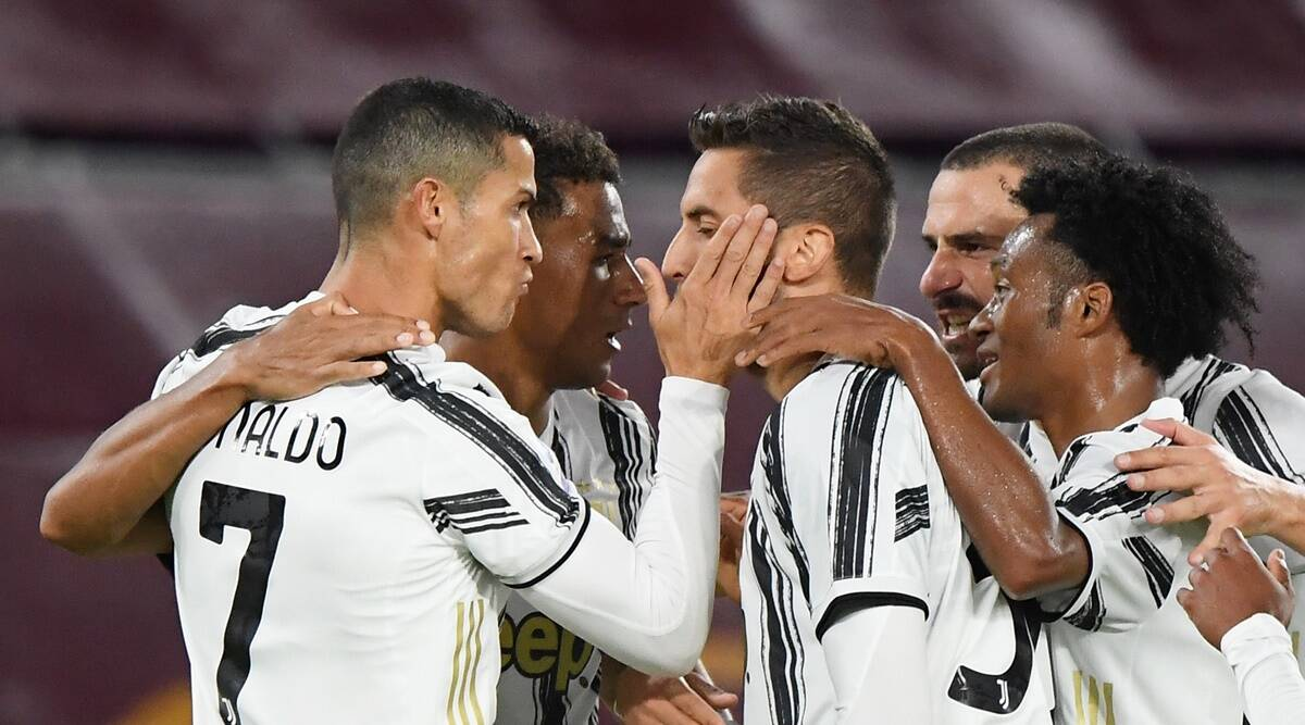 Cristiano Ronaldo double earns point for 10-man Juventus at Roma | Sports  News,The Indian Express