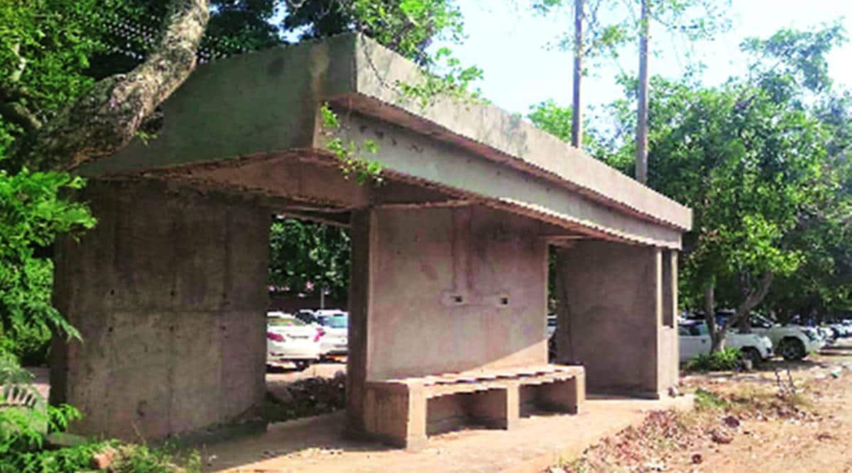 smart bus, queue shelters, Panchkula news, Haryana news, Indian express news