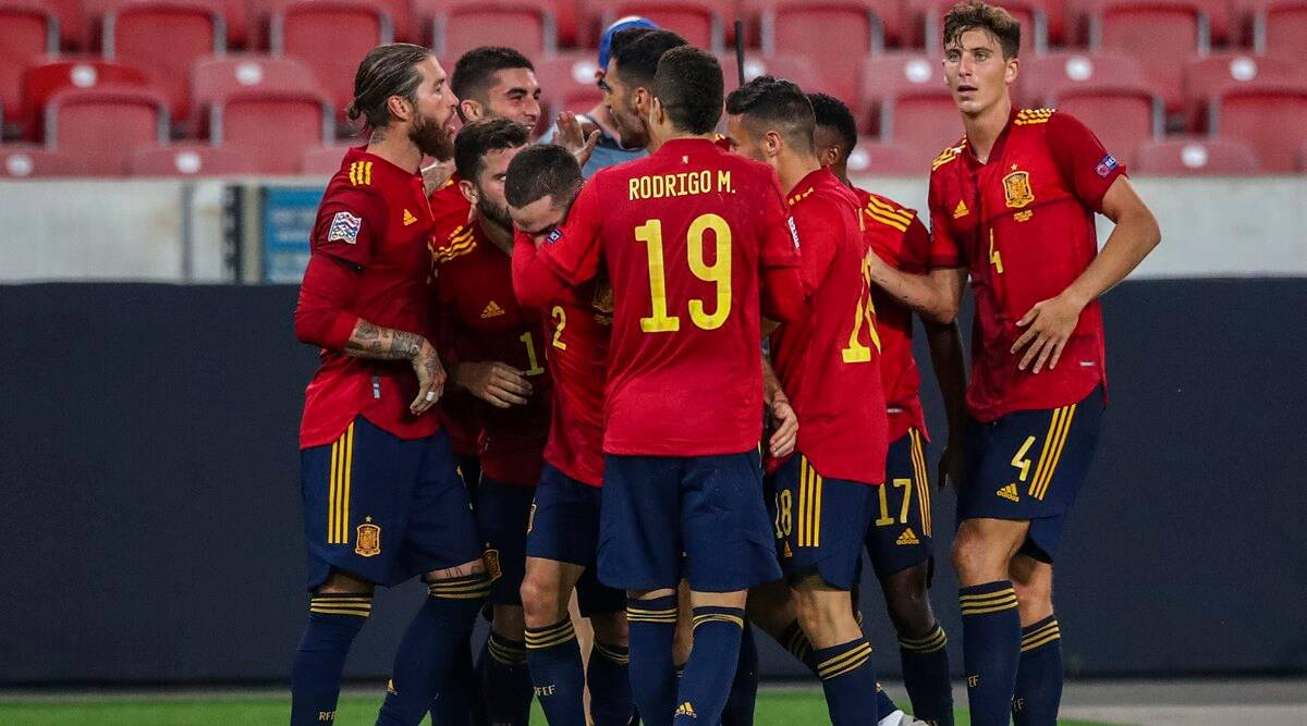 Spain Salvage Uefa Nations League Draw Against Germany With Late Equaliser Sports News The Indian Express