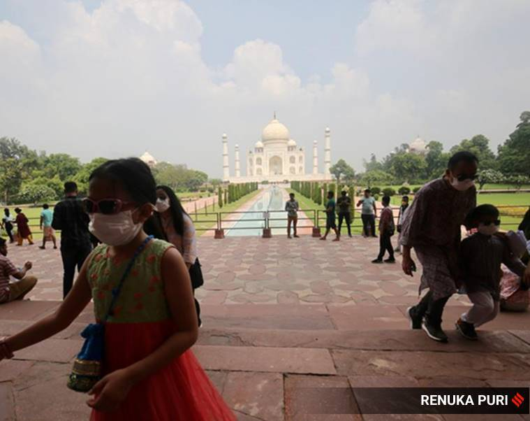 As Taj Mahal reopens, tourists trickle in: Chinese national is visitor No 1