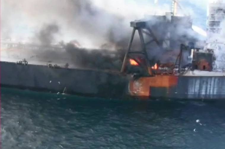 Fire on tanker off Sri Lanka under control, ship towed away