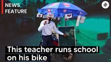 Chhattisgarh teacher runs school on bike