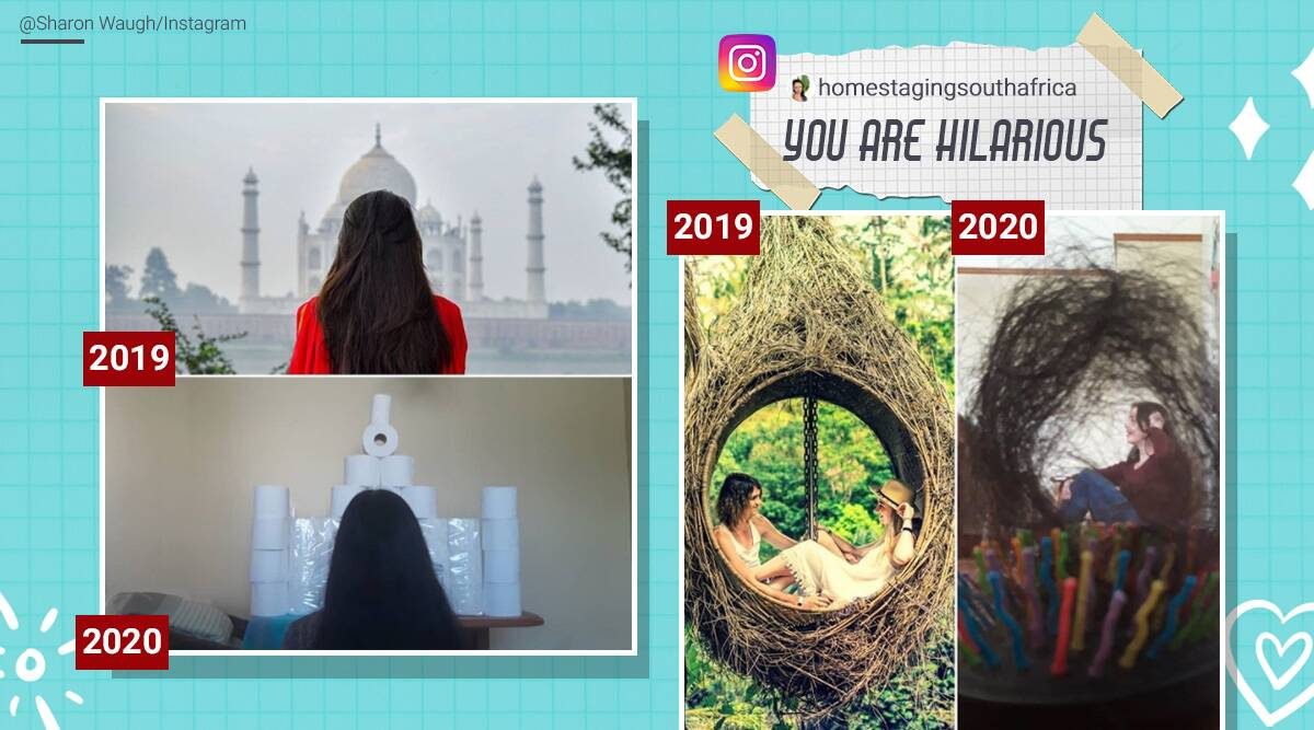 Travel pictures recreated, Travel pictures household items, COVID-19 and travel, Travel picture challenge, Quarantine travel challenge, household item travel picture recreation, Trending news, Indian Express news.