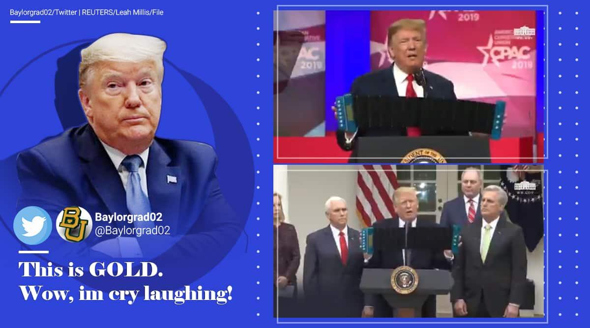 donald trump, donald trump accordion video, trump plays accordion, life accordion to trump, trump accordion spoof videos, trump funny videos, indian express