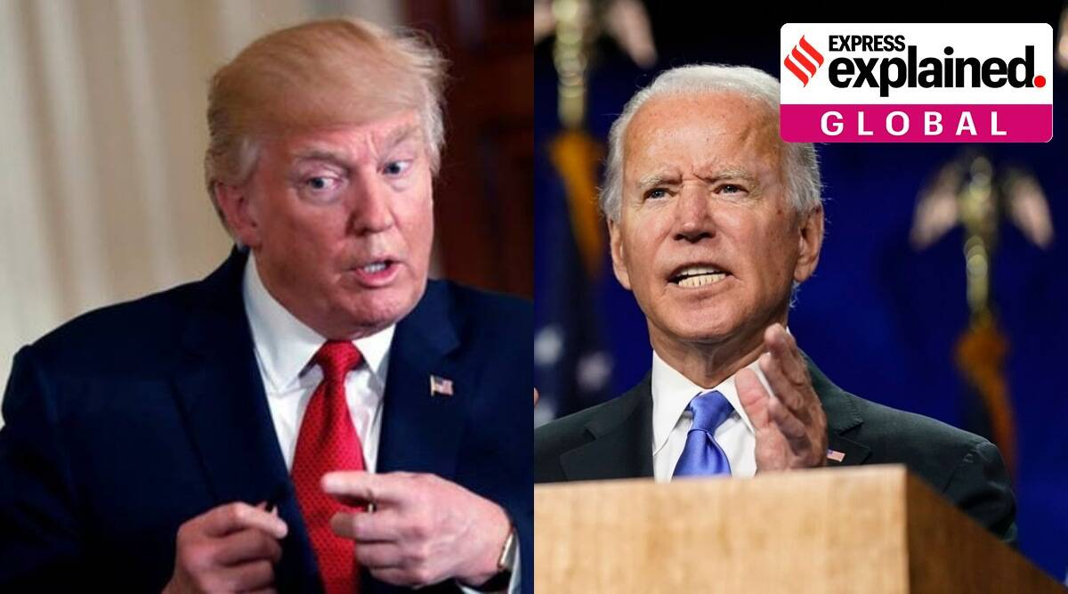 donald trump, joe biden, election news, US elections, US election date, trump covid, biden on covid 19, US election results, indian express