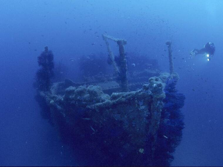 underwater shipwreck, world maritime day, indianexpress,