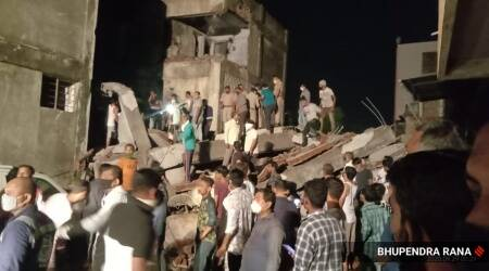 Vadodara building collapse, building collapse in Vadodara, Vadodara building collapse toll, India news, Indian Express