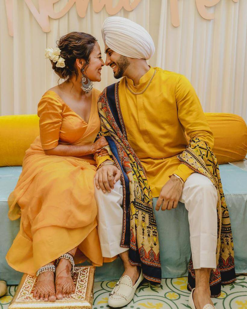 9 dreamy pics from Neha Kakkar's haldi ceremony