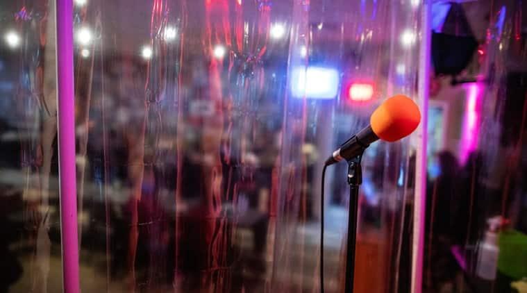 Canadian karaoke bar, Shower cabin, Canada, COVID-19, Coronavirus, Social media viral trending news, Indian Express news.