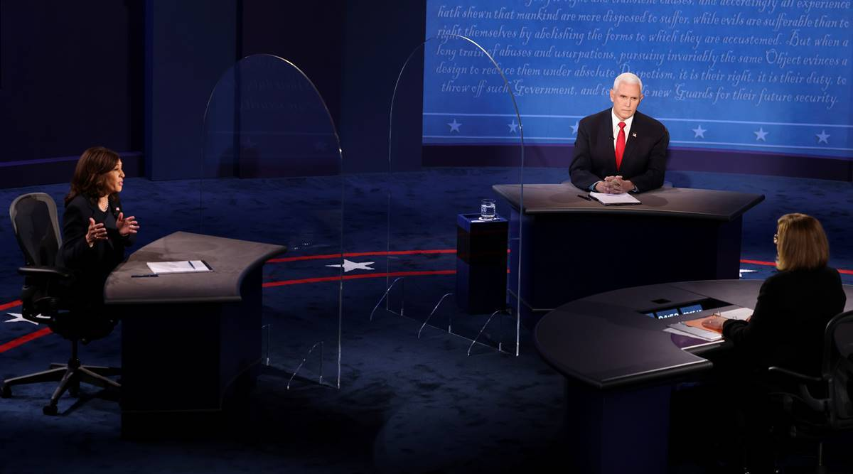 Vice Presidential Debate Highlights: Kamala Harris rips Trump over Covid as Pence hits Biden on taxes, court | World News,The Indian Express