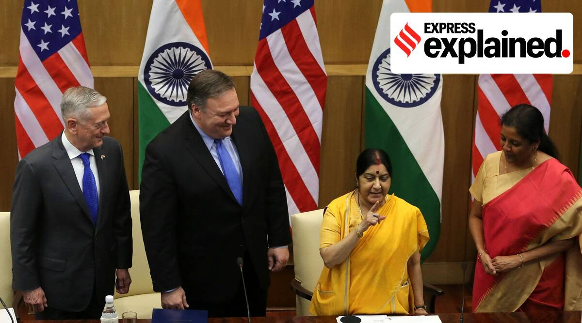 India US ties, India US defence deal, India US pact, Mike Pompeo India visit, Mike Pompeo in India, India China news, Indian Express