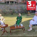 From left to right: Omar Abdullah, Mehbooba Mufti and Farooq Abdullah