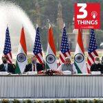 US and Indian defence and foreign affairs ministers at a recent round of bilateral talks