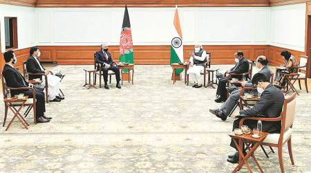 """nsa ajit doval, india security advisor ajit doval, Afghan reconciliation, afghanistan India relations, indians in afghanistan, Indian express"""" />"""