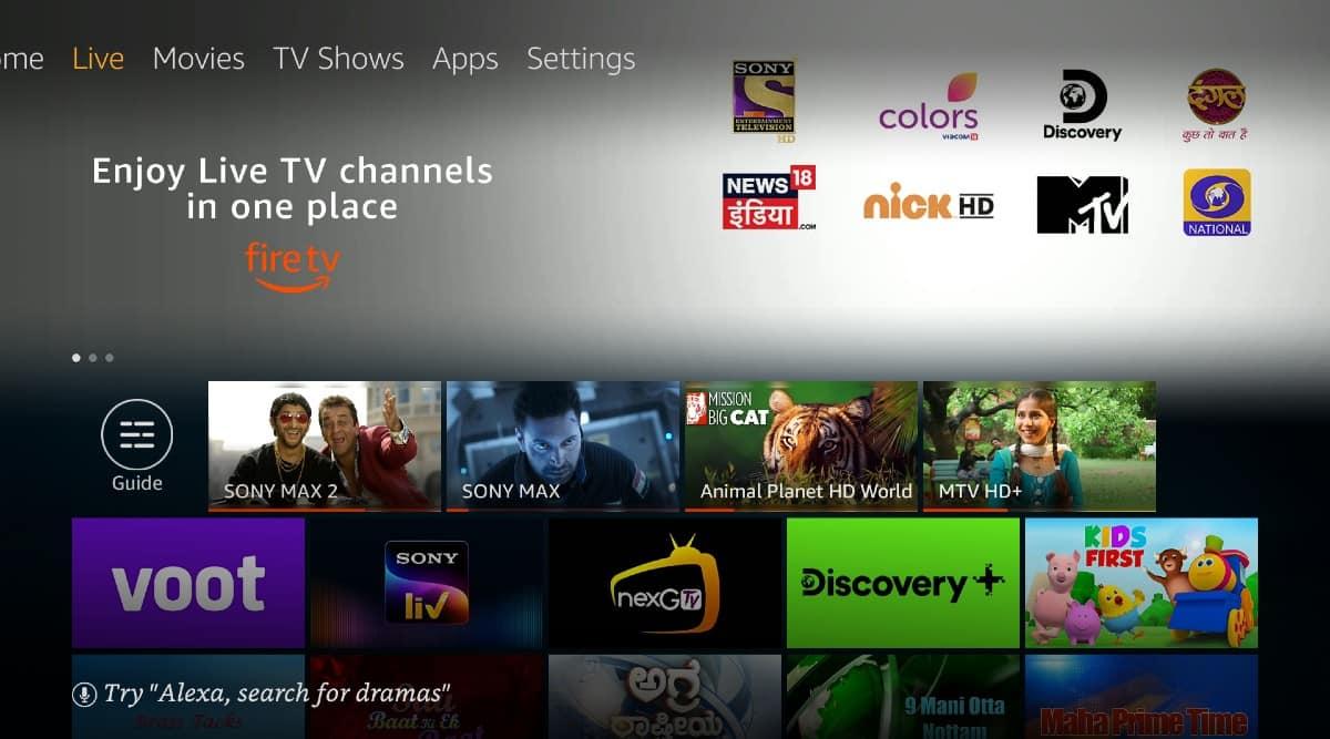 Amazon Fire TV, Amazon Fire TV Live TV, Live TV on Amazon Fire TV Stick, Watch live TV online, live TV online feature, Fire TV stick live TV channels, SonyLIV, Voot, Discovery+, NextG TV, Zee5