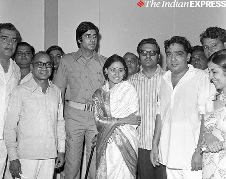 Amitabh Bachchan with Zanjeer team
