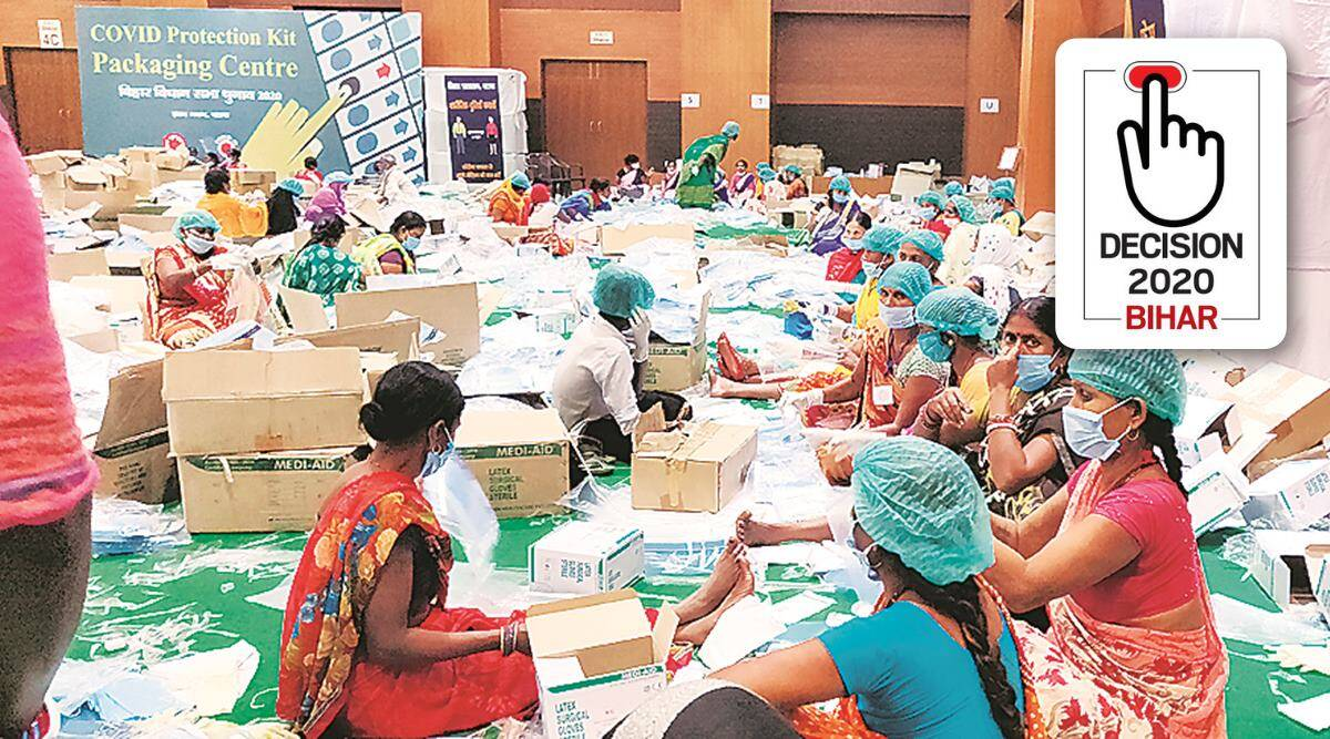 Bihar Assembly Elections 2020: Target 5 lakh kits, women lead Patna's Covid race for polls