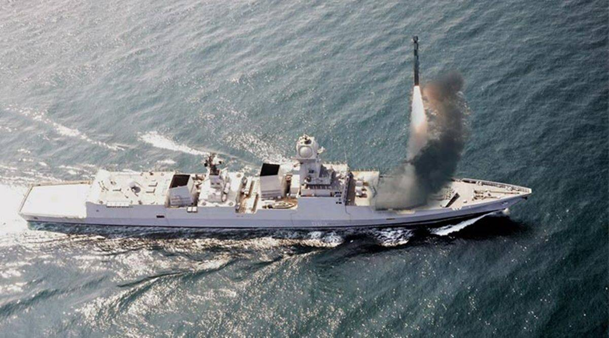 Brahmos test-fired from Indian navy destroyer INS Chennai