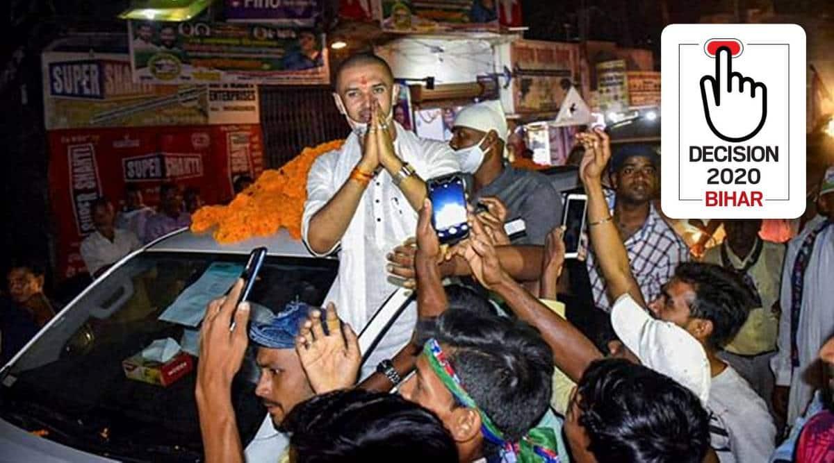 Bihar elections 2020, bihar assembly elections 2020, chirag paswan bihar elections, Tejasvi Surya praises chirag paswan, bihar bjp, indian express news