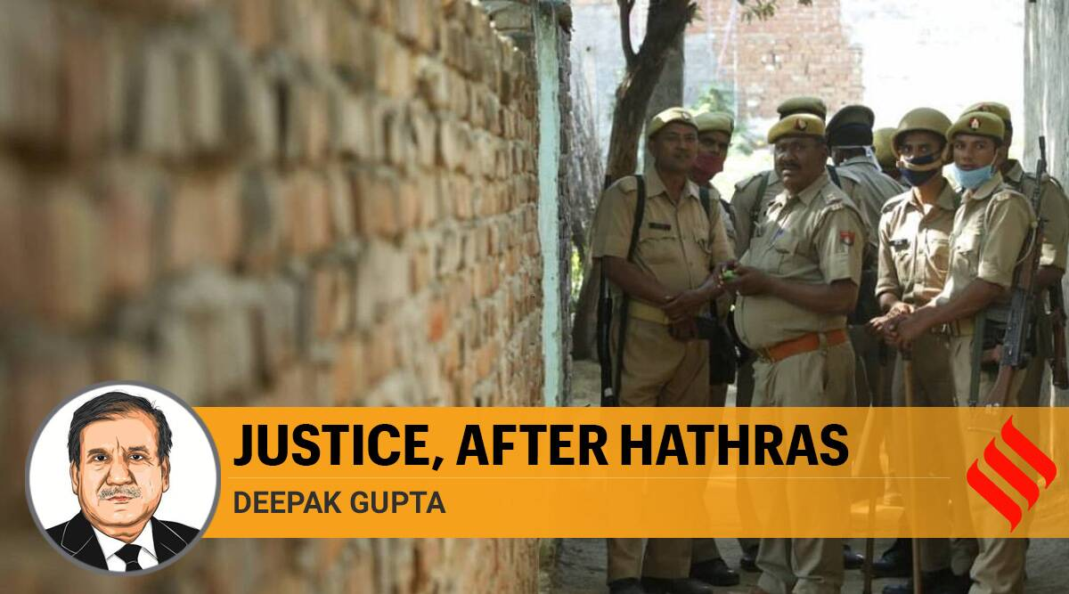 hathras case, hathras gangrape. hathras gangrape justice, hathras news, UP Police, indian express