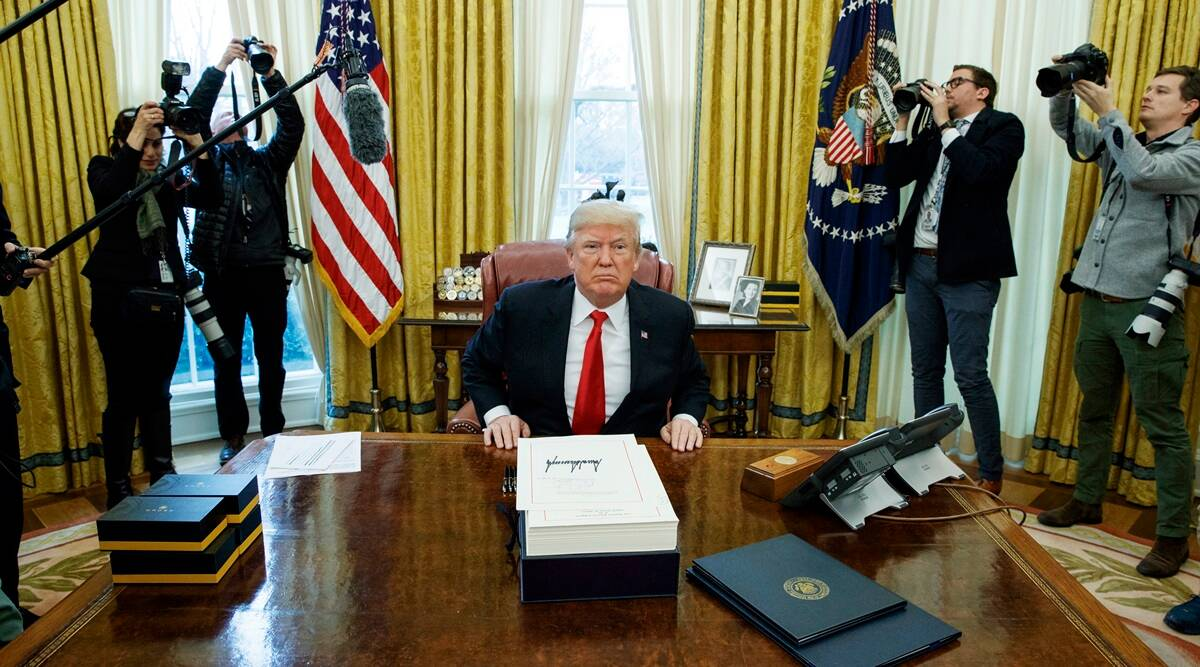 US election 2020, US election news, election 2020, Donald Trump, US bill to fund government, Indian Express