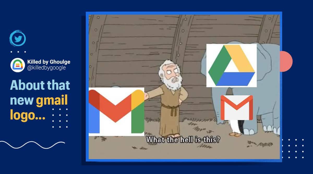 gmail, gmail new logo, gmail new logo criticism, google new logos, gmail memes, gmail new logo feature, viral news, tech news, indian express